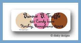 Bon-bon dots return address labels personalized