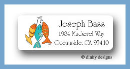 Hook, line & sinker return address labels personalized