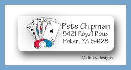 Texas hold' em return address labels personalized