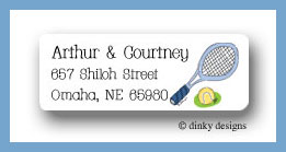 Tennis, anyone? return address labels personalized