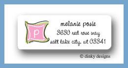 Preppy monogram return address labels