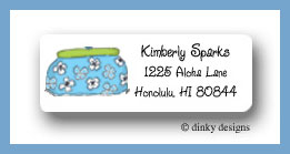 Summer clutch return address labels personalized
