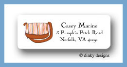 Carmel stripes return address labels personalized