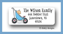 Stroller rides - boy return address labels personalized