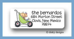 Stroller rides - boy/girl return address labels personalized