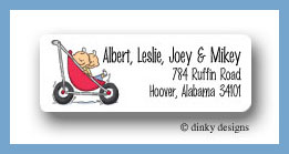 Stroller rides - boy/boy return address labels personalized
