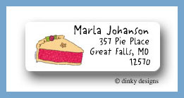 Berry pie return address labels personalized
