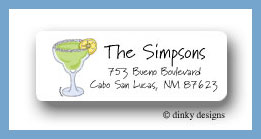 Margarita with salt return address labels personalized