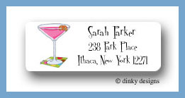 Cosmopolitan twist return address labels personalized