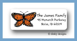Monarch-y return address labels personalized