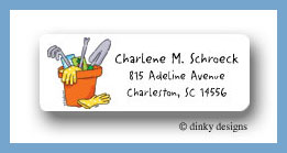 Garden tools return address labels personalized
