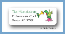 Humming bird return address labels personalized