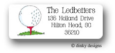 Tee'd off return address labels personalized