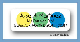 Twister dots return address labels personalized