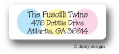 Baby dots return address labels personalized
