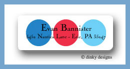 Tommy dots return address labels personalized