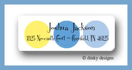 Nautical dots return address labels personalized