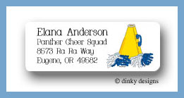 Megaphone return address labels personalized