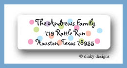 Pastel dots return address labels personalized