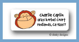 Monkey business return address labels personalized