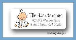 Baby steps - girl return address labels personalized