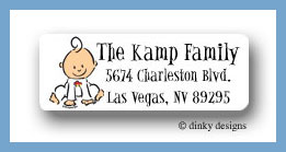 Baby steps - boy return address labels personalized