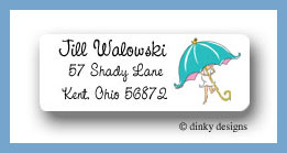 Mommy shower return address labels personalized