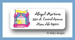 Princess bouncy house return address labels personalized