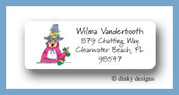 Workout Wilma return address labels personalized