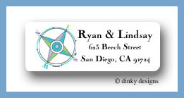 Compass return address labels personalized