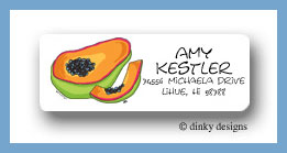Papaya return address labels personalized