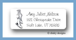Figure 8 skates return address labels personalized
