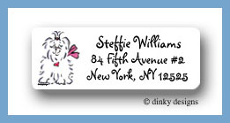 Tiffany the Maltese return address labels personalized