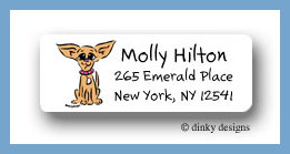 Chi-chi the Chihuahua return address labels personalized