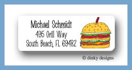 Double double return address labels personalized
