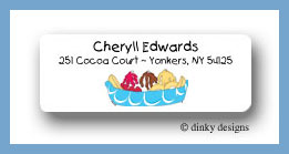 Banana boat return address labels personalized