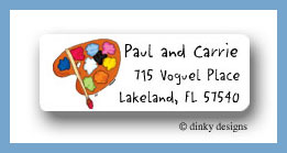 Pallet o' paint return address labels personalized