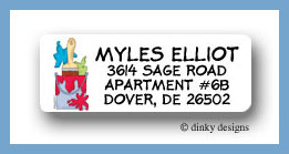 Bucket o' paint return address labels personalized