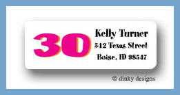 Flirty 30 return address labels personalized
