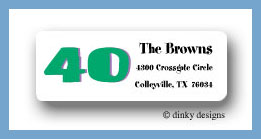 40 and lovin' it return address labels personalized