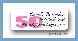 Nifty 50 return address labels personalized