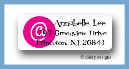 At peace return address labels personalized