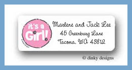 It¦s a girl! return address labels personalized