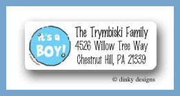 It¦s a boy! return address labels personalized