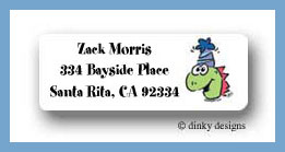 Dino party return address labels personalized