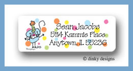 Elephant & mouse return address labels personalized