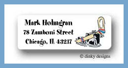 Hockey return address labels personalized