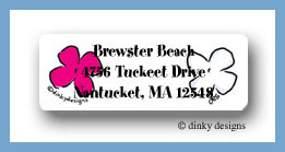 Posie paradise return address labels personalized