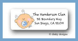 Baby boy plaid return address labels personalized