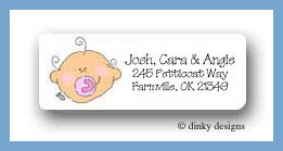 Baby girl return address labels personalized